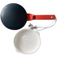 Crêpière électrique petit déjeuner Machine à Pizza crêpe cuisson Pan gâteau antiadhésif plancha chinois printemps rouleau outils de cuisson Eu Pl