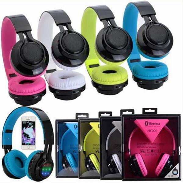 AB005 Stylish LED Light Fashion Wireless Bluetooth Headband Headphone Sports Sound Card Earphone Headset For HUAWEI iPhone