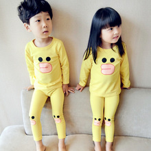 Girls Clothing Sets 2016 Autumn Suit Male and Female Baby Line Series Tracksuit Children Kids Pajamas Underwear Sets