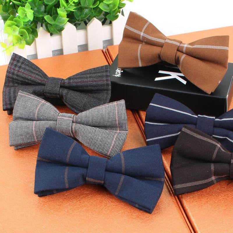 Ingenious Fashion Men's Adjustable Cotton Bowtie Boys Childrens Plaid Striped Solid Butterfly Bow Tie Holiday Prom Party Gift Accessories Fancy Colours