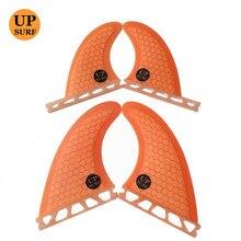 Surf fins Quilhas G5+GL Future-Quad-Fins Orange Honeycomb Future Fins Surfboard