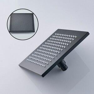 Image 2 - מט שחור גדול מקלחת גשם מגופים סט יחיד מנוף טמפרטורת תצוגה דיגיטלית ערבוב שסתום ברז