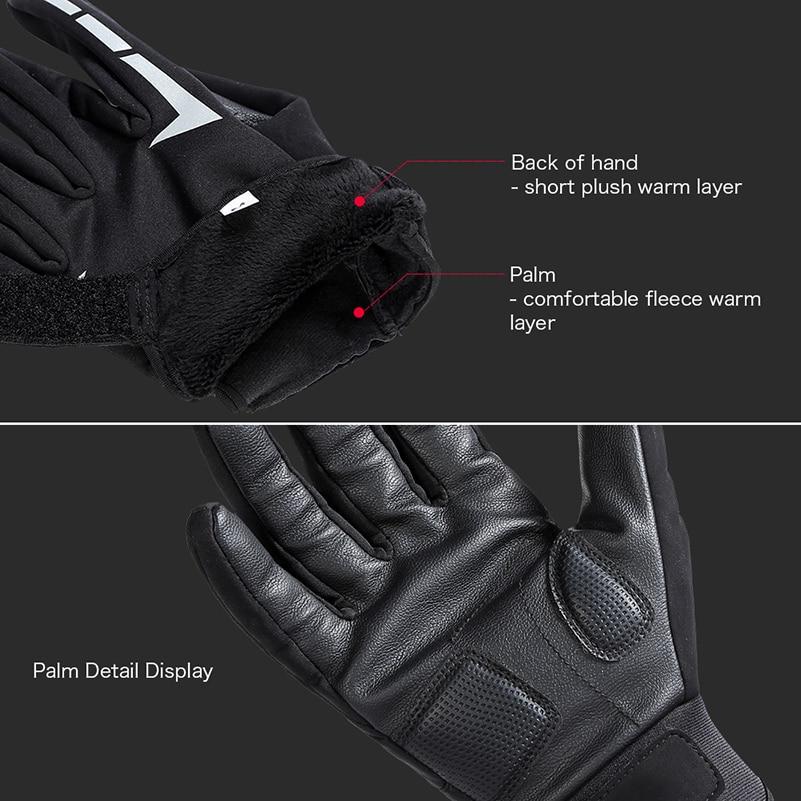 WEST BIKING Cycling Gloves Winter Thermal Fleece Bike Gloves Warm Ski Touch Screen Sport Men Women MTB Road Full Finger Gloves