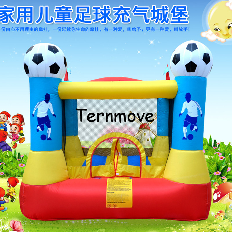 inflatable football Bounce House with Blower Indoor Outdoor soccer Moonwalk Inflatable Bouncer Jump 'n Slide Bouncer jumper dhl free shipping inflatable bouncer cute sharks jumper with long slide with blower for kids