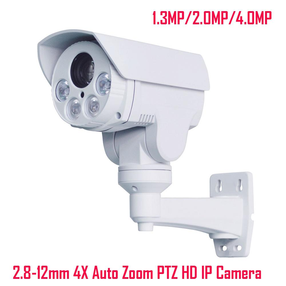 Full HD 1080P 4X Motorized Auto Zoom 2.8-12mm Varifocal IP Camera 1.3MP 2MP 4MP Outdoor PTZ P2P IP Camera IR Cut Onvif XMeye APP