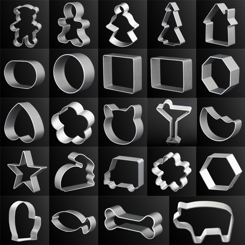 44kinds of shape Cookie Cutters 10Pcs A set Animal Metal Alloy Multi Shape Cake Decorating DIY Kitchen Bakeware Mould