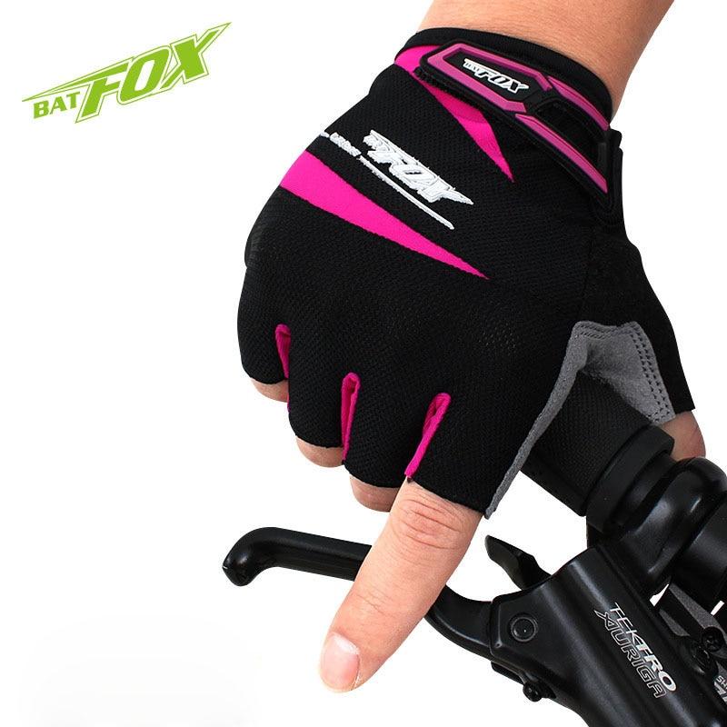 Prix pour BATFOX sport vtt vélo vélo vélo gants demi doigt gel vélo gant accessoires pour hommes femmes