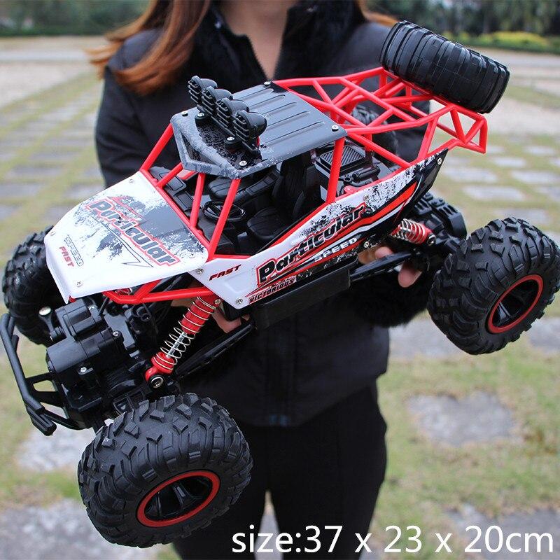 1/12 coche RC 4WD escalada coche 4x4 de doble motores conducir Bigfoot coche modelo de Control remoto fuera de la carretera vehículo de baja calidad para niños