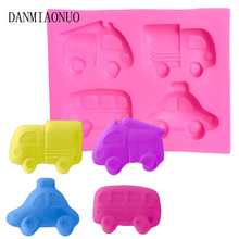 Mini 3D Car Shape Silicone Molds DIY Food Grade Candy Chocolate Cupcake Mold Cube Cartoon Jelly Pudding Baking Tools For Cakes цены