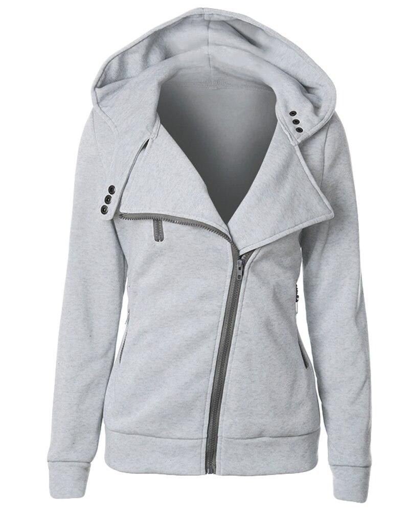 Female Hoodies Sweatshirt Autumn Winter Long Sleeve Zip BTS Hooded Sudaderas Mujer 2018 Warm Women Tracksuit Harajuku Streetwear