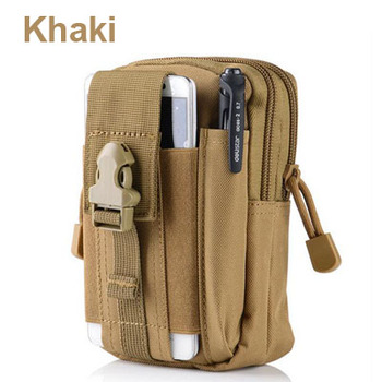 Outdoor Camping Climbing Bag Tactical Military Molle Hip Waist Belt  Wallet Pouch Purse Phone Case for iPhone 7 for Samsung  1