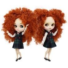 Ледяной DBS Blyth кукла 30 см bjd игрушка 1/6 коричневый волос совместное тело белая кожа матовое лицо афро волосы Обнаженная кукла