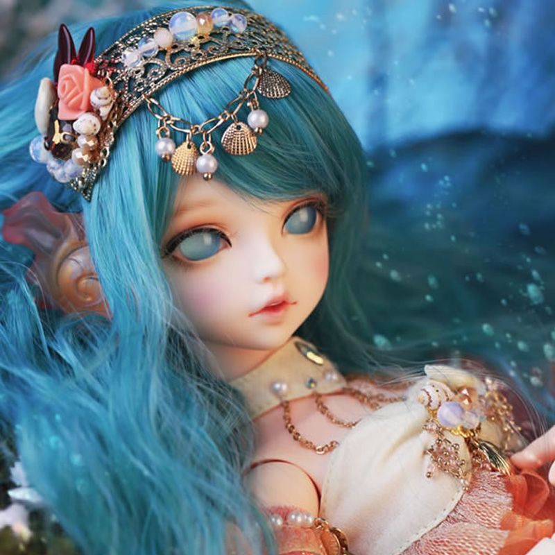 New Arrival 1/4 BJD Doll BJD/SD Fashion Cute Serin Rico Fish Mermaid Resin Doll For Baby Girl Birthday Gift handsome grey woolen coat belt for bjd 1 3 sd10 sd13 sd17 uncle ssdf sd luts dod dz as doll clothes cmb107