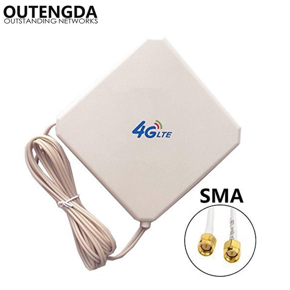 35dBi GSM 4G LTE Antenna SMA Male High Gain External Indoor WIFI Signal Amplifier Booster ANT for Huawei E5375 E589 E5776