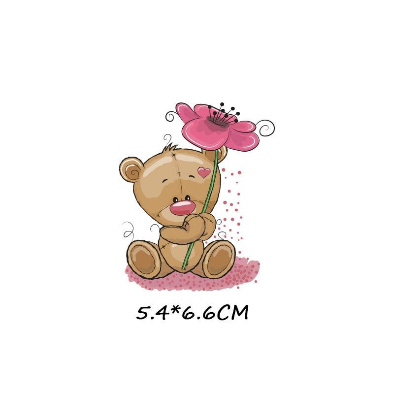 Милые маленькие животные Единорог Сова собака кошка патч для одежды стикер для детей мальчик девочка DIY патчи Футболка теплопередача Винил - Цвет: zt1093