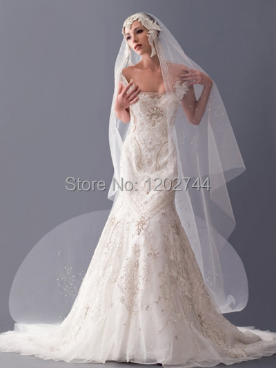 Vestido Rushed Bridal Veils Cheap Free Shipping Net Ivory Or Write Crystal Wedding Veu De Noiva With Accessories 2017 New Arrive