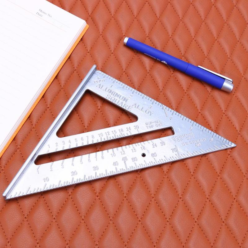 7 Inch Speed Square Metric Measuring Ruler Carpenter Triangle Angle Protractor Miter Framing Tri-square Line Scriber Saw Guide