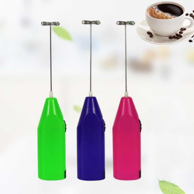 Mini bateria elétrica alimentado batedor de café misturador de leite batedor ovo batedor