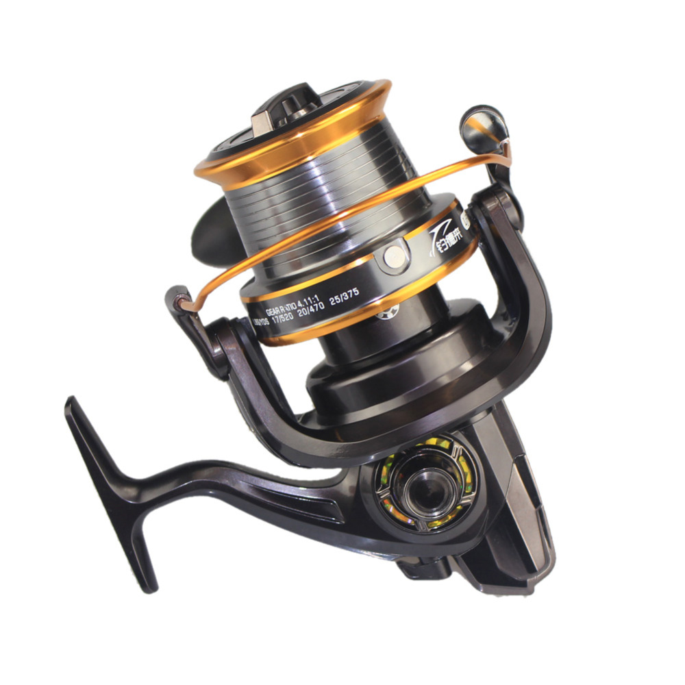 Full Metal Wire Cup Spinning Big long Shot Fishing Reel Die Cast Aluminum Spool With Large Line Capacity Reel High Quality lucky shot drinking roulette game 6 cup set