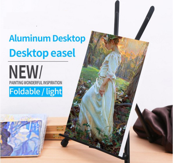 Art Sets Foldable Painting Easel Display Aluminum Alloy Sketch Easel Frame Artist Adjustable Tripod Display Shelf new 2pcs female right left vivid foot mannequin jewerly display model art sketch