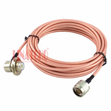 5 meters high quality n male to so239 right angle RG142 car two way radio antenna coaxial teflon high voltage cable