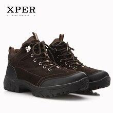 2016 Marca XPER Invierno de Los Hombres de Los Zapatos Ocasionales con cordones de Nieve Ocasionales de Los Hombres Zapatos Antideslizantes Tamaño 40 ~ 45 Caliente Plus Size # BT002