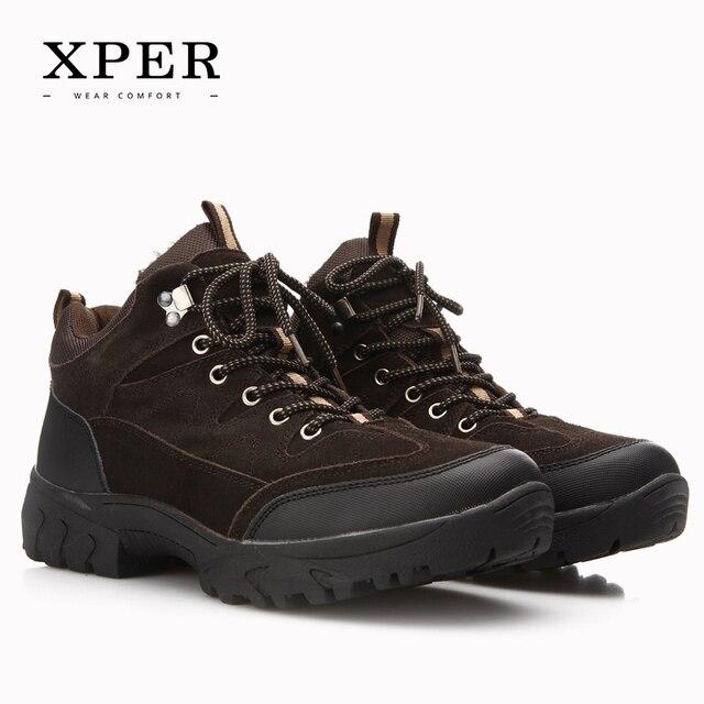 2016 Brand XPER Men Winter Casual Shoes Lace-up Snow Casual Men Shoes Antiskid Size 40~45 Warm Plus Size #BT002