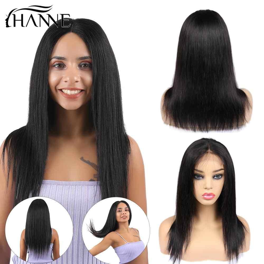4*4 прямые парики шнурка для черных женщин парики человеческих волос бразильский парик Remy натуральный цвет