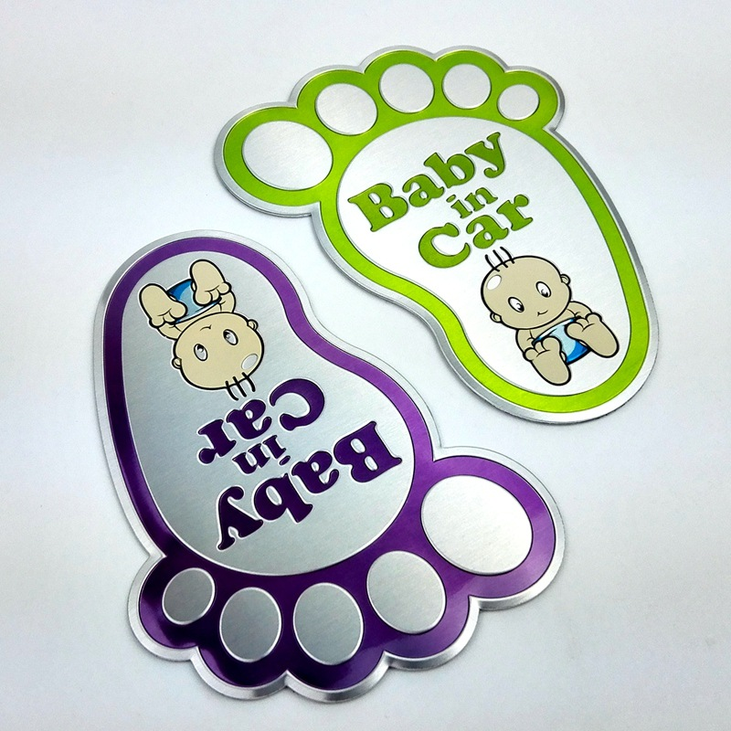 Car metal Sticker Baby In Car Reflective Safty Warning KIDS ON BOARD children in car on the Window Rear Windshield CuteCar metal Sticker Baby In Car Reflective Safty Warning KIDS ON BOARD children in car on the Window Rear Windshield Cute