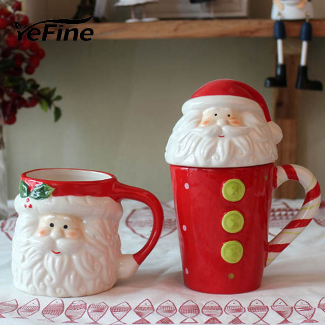 YeFine Creative Father Christmas Gift Ceramic Tea Mugs Water Container Cups And Mugs Top Grade Porcelain Coffee Cup Drinkware