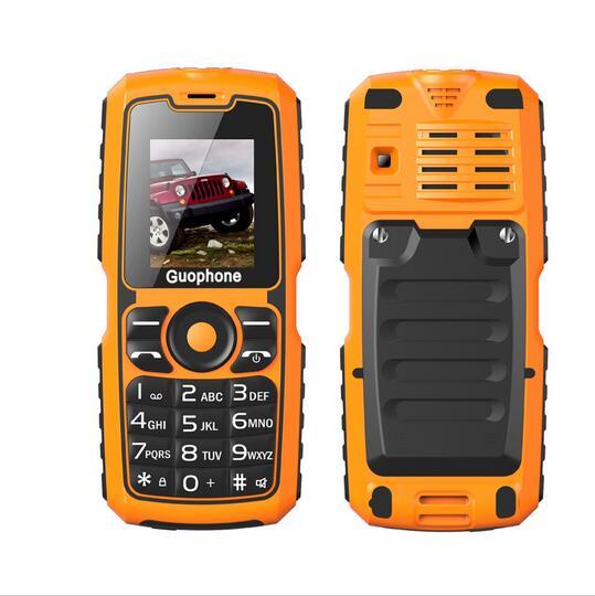 Guophone V3S 1 77 Dual Sim Cards Flashlight Bluetooth 4000mAh Power Bank Dustproof Waterproof Cellphone elder