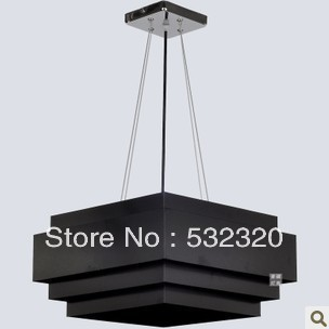 Free Shipping New Arrival Black Fixtures Creative Modern Pendant Lights With Large Lamp Shades For