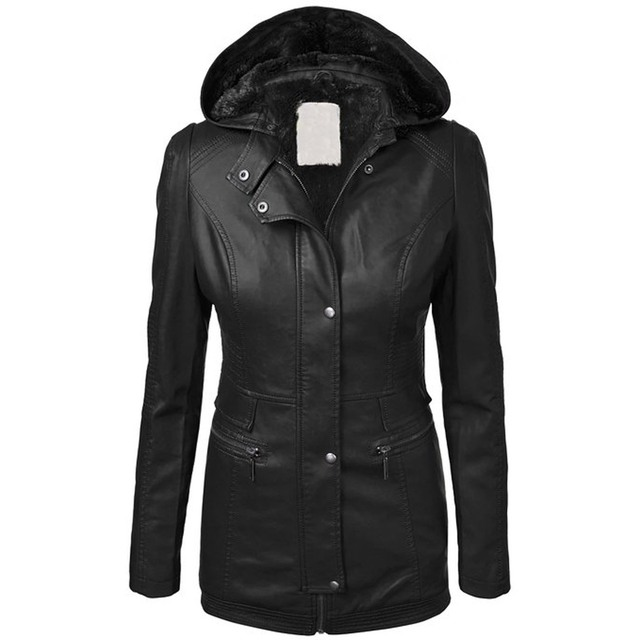 c1d4636d0f2 winter women coat jacket hooded zipper button thick outwear clothes slim  plus size warm autumn solid tops fashion office lady