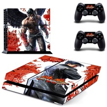 New Tekken 7 Decal Skin Sticker For Sony Playstation 4 PS4 Console +2Pcs Controller (15 patterns choose)