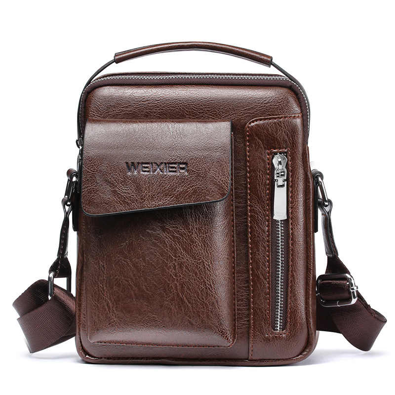2694b1e5b ... Kweco Vader High Quality Men's Briefcase Bags PU Leather Business  Travel Laptop Tote Bag Black Men