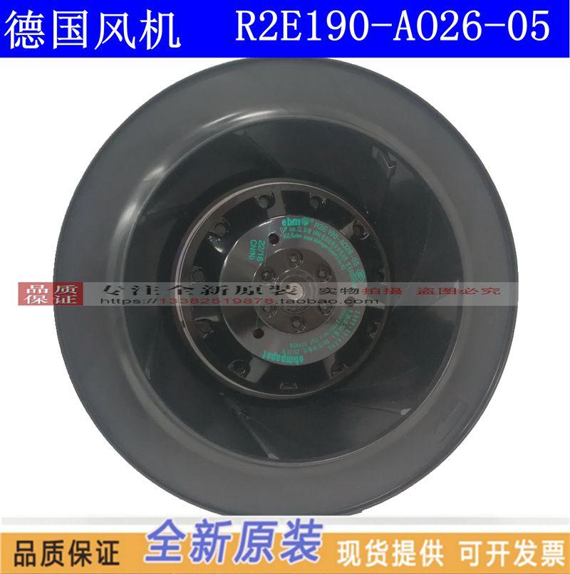 NEW ebmpapst PAPST R2E190-AO26-05 230V 0.26/0.34A turbine turbo Centrifugal cooling fanNEW ebmpapst PAPST R2E190-AO26-05 230V 0.26/0.34A turbine turbo Centrifugal cooling fan
