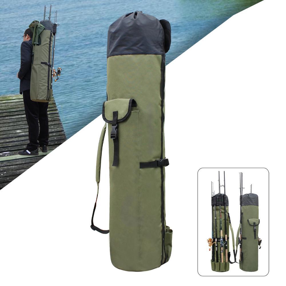 JSM Portable Outdoor Fishing Bags Multifunction Nylon Waterproof fishing rod shoulder bag for fishing tackle equipment