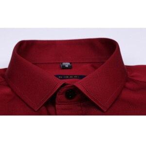 Image 4 - 2020 גברים חולצות אביב סתיו חדש הגעה Slim Fit זכר חולצה מוצק ארוך שרוול בסגנון בריטי כותנה גברים של חולצה להאריך ימים יותר YN10383