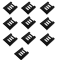 "F17854-10 10 pcs 2.5"" SSD HDD To 3.5"" Black Mounting Adapter Bracket Dock Hard Drive Holder with Screws for PC"