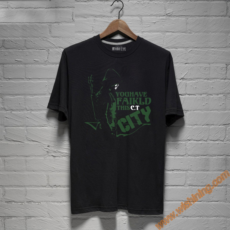 """You Have Failed This City"" Oliver Queen Green Arrow T-shirts For Young Mens"