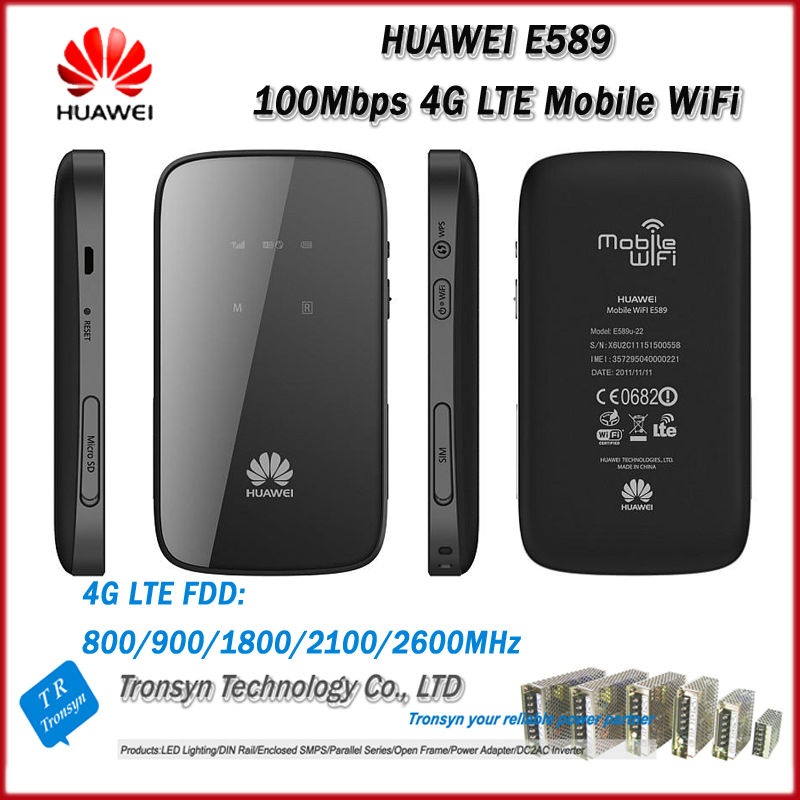 New Original Unlock LTE FDD 100Mbps HUAWEI E589 Portable 4G Wireless Router With Sim Card Slot And 4G LTE Wireless Router huawei 4g router huawei e5573 portable lte 4g wireless router with sim card slot 4g signal amplifier antenna 49dbi ts9