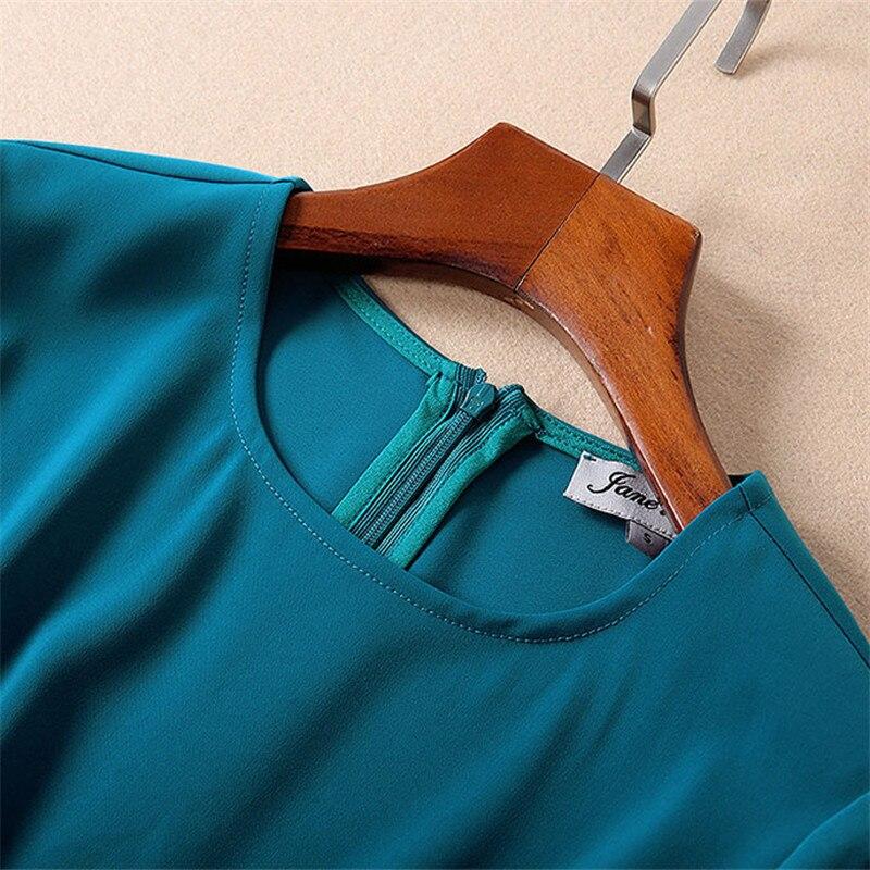 Designer Parti Manches Mode Bleu Pour Féminine Piste Couleur Élégant Femmes Printemps 2019 Solide Robe Midi Demi Asymétrique Uggpq5Z