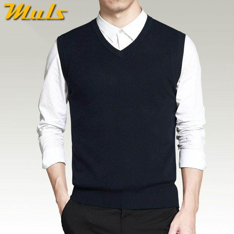 Online Shop Vest sweater men casual style woolen knitted business ...