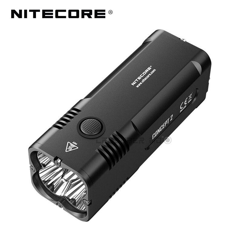 Nouvelle Arrivée Nitecore Concept 2 CREE XHP35 HD LED Torche lumière 6500 Lumens Super Lumineux lampe de Poche avec Distance de Faisceau 398 m