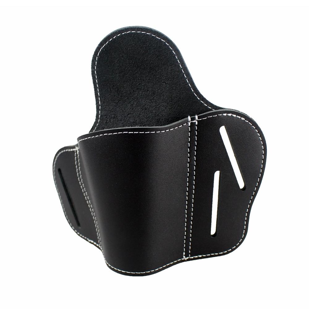 OWB Leather Holster 3 Slot Pancake Belt Holster Fit S/&W Shield Glock Springfield