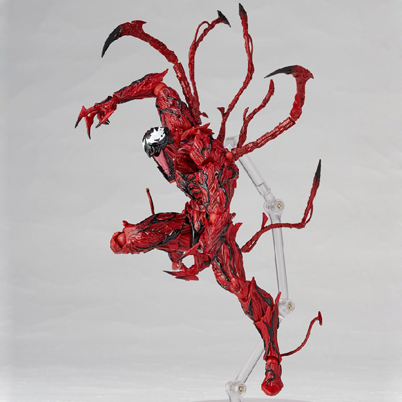 Revoltech Amazing Red Venom Carnage Amazing Captain America Spiderman Magneto Wolverine X-men Action Figures Toy Doll (55)