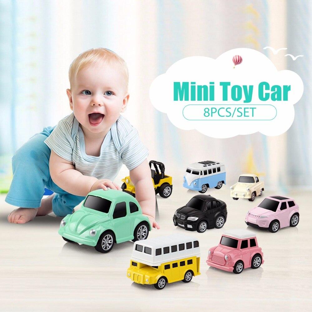 DODOELEPHANT 8pcs/box Pull Back Car Alloy Diecast Mini Children ...