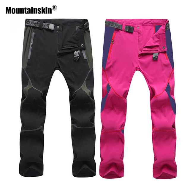 Mountainskin Men's Women's Summer Quick Dry Sports Pants Outdoor Hiking Fishing Trekking Camping Female Elastic Trousers VA208