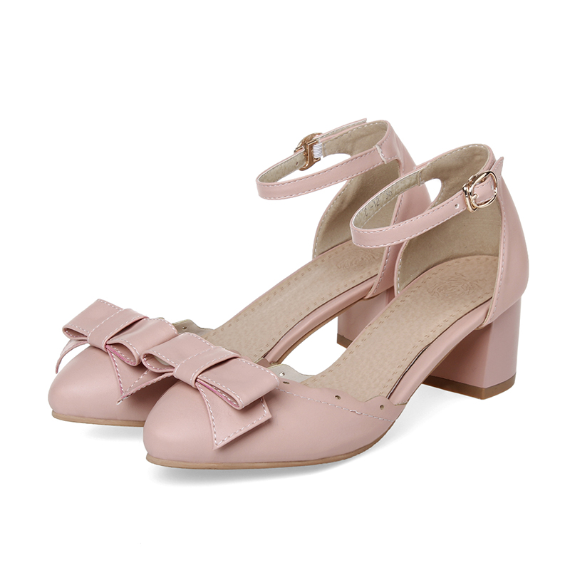 Aliexpress.com : Buy Women light pink low heels designer large