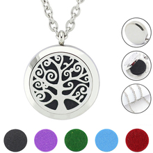 With chain as gift! Wholesale 20//25/30mm magnetic 316L stainless steel aromatherapy oil diffuser necklace jewelry